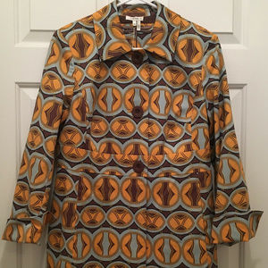 NWT Tyler Boe Geometric Lined Gold Brown Jacket 10